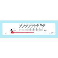温度計 プチサーモ スクエア よこ 13.5cm ホワイト 48785 1セット(20個) シンワ測定 (直送品)