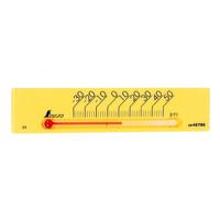 温度計 プチサーモ スクエア よこ 13.5cm イエロー 48786 1セット(20個) シンワ測定 (直送品)