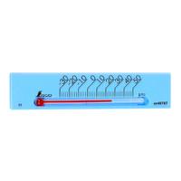 温度計 プチサーモ スクエア よこ 13.5cm ブルー 48787 1セット(20個) シンワ測定 (直送品)