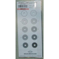 エスコ スモークテスター・スモークチャート EA770Bー3 1セット(2枚:1枚×2) EA770Bー3 (直送品)