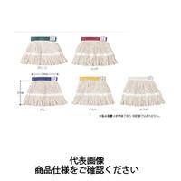 テラモト(TERAMOTO) 掃除用品 ブラシ FXメッシュ替糸ループ 制菌 300g イエロー CL-374-630-5 1セット(3枚) (直送品)