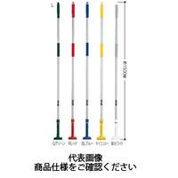 テラモト(TERAMOTO) 掃除用品 ブラシ FXハンドル アルミ柄L Gグリーン CL-374-120-1 1セット(3本) (直送品)