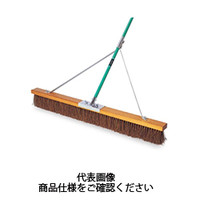 テラモト(TERAMOTO) 掃除用品 ブラシ コートブラシ シダ ステー付 150cm CL-414-615-0 1本 (直送品)